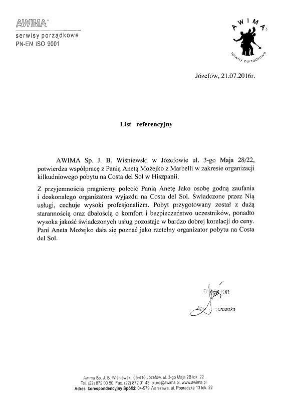 Referencje Jozefow